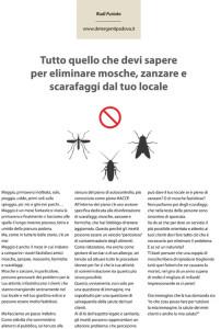 Eliminare mosche zanzare scarafaggi dal tuo locale